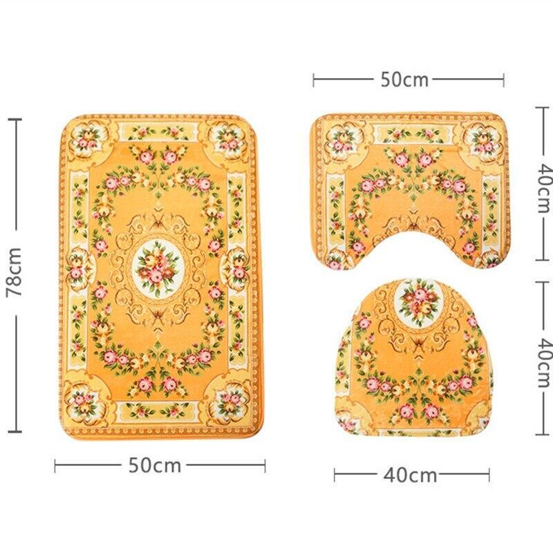 Tapis De Bain Orange Design