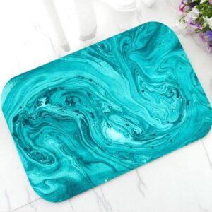 Tapis Salle De Bain Bleu Turquoise